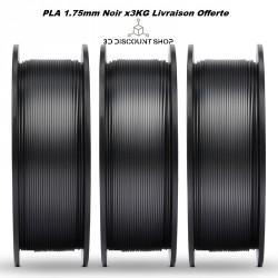 PACK 3Kg PLA 1.75MM Noir
