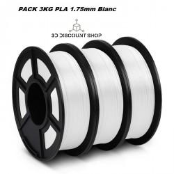 PACK 3KG PLA 1.75MM BLANC